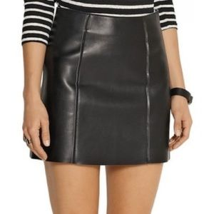 Alexander Wang leather skirt